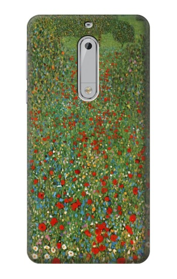 Printed Gustav Klimt Poppy Field HTC Desire 510 Case