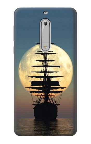 Printed Pirate Ship Moon Night HTC Desire 510 Case