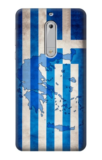 Printed Greece Map Flag HTC Desire 510 Case