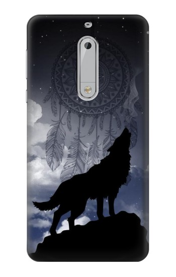 Printed Dream Catcher Wolf Howling HTC Desire 510 Case