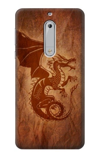 Printed Red Dragon Tattoo HTC Desire 510 Case