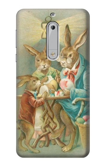 Printed Easter Rabbit Family HTC Desire 510 Case