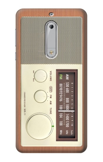 Printed FM AM Wooden Receiver Graphic HTC Desire 510 Case