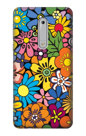 Printed Colorful Flowers Pattern HTC Desire 510 Case