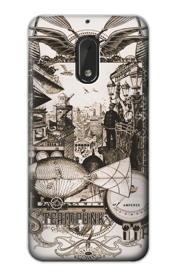 Printed Steampunk Drawing Nokia Lumia 1320 Case
