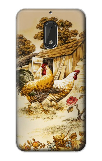 Printed French Country Chicken Nokia Lumia 1320 Case