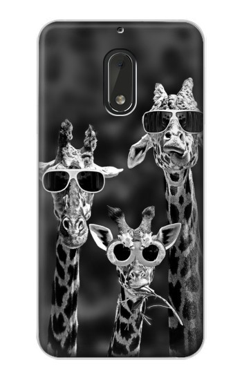 Printed Giraffes With Sunglasses Nokia Lumia 1320 Case