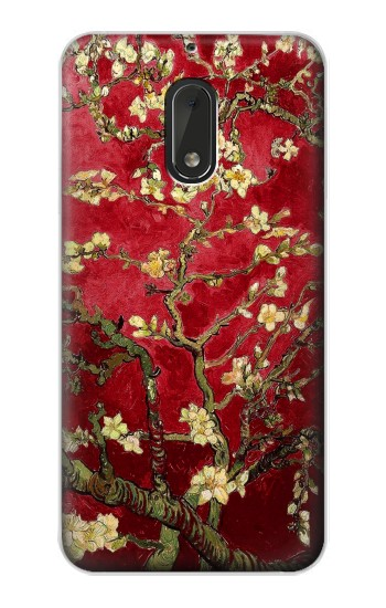 Printed Red Blossoming Almond Tree Van Gogh Nokia Lumia 1320 Case