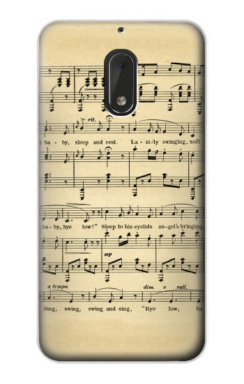 Printed Vintage Music Sheet Nokia Lumia 1320 Case