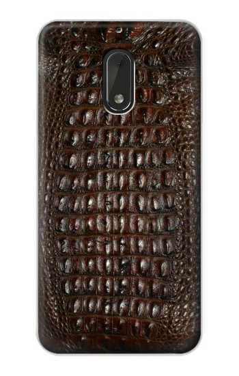Printed Brown Skin Alligator Graphic Printed Nokia Lumia 1320 Case