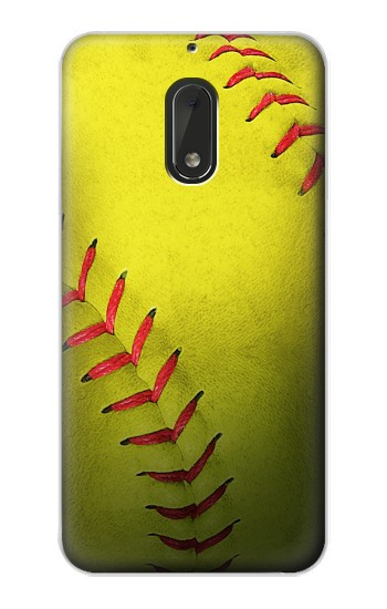 Printed Yellow Softball Ball Nokia Lumia 1320 Case