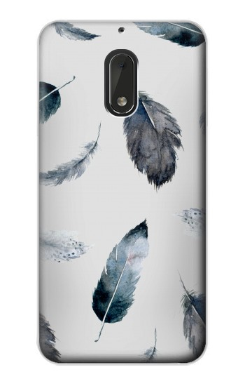 Printed Feather Paint Pattern Nokia Lumia 1320 Case