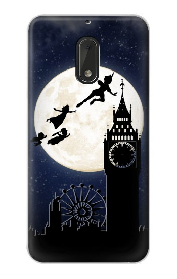 Printed Peter Pan Fly Fullmoon Night Nokia Lumia 1320 Case