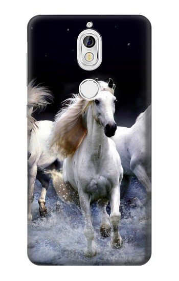 Printed White Horse Nokia 7 Case
