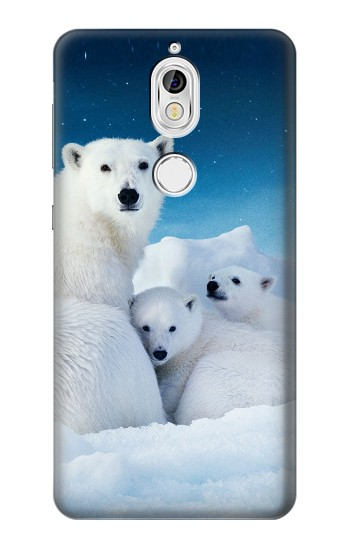 Printed Polar Bear Family Arctic Nokia 7 Case