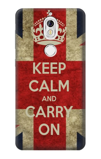 Printed Keep Calm and Carry On Nokia 7 Case