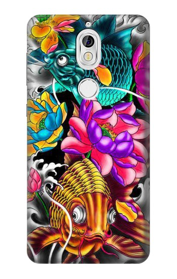Printed Fish Japanese Oriental Tattoo Nokia 7 Case