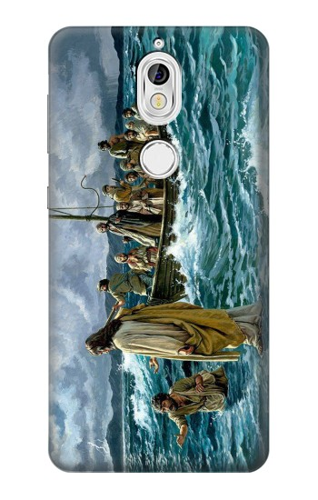 Printed Jesus Walk on The Sea Nokia 7 Case