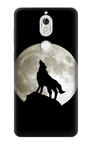 Printed Wolf Howling at The Moon Nokia 7 Case