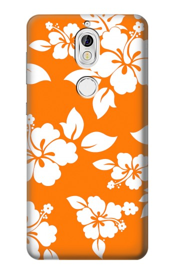 Printed Hawaiian Hibiscus Orange Pattern Nokia 7 Case