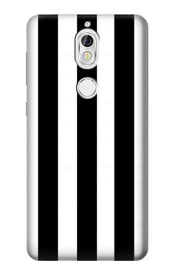Printed Black and White Vertical Stripes Nokia 7 Case