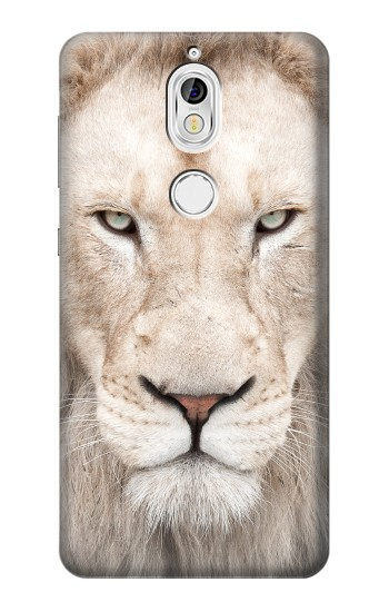 Printed White Lion Face Nokia 7 Case