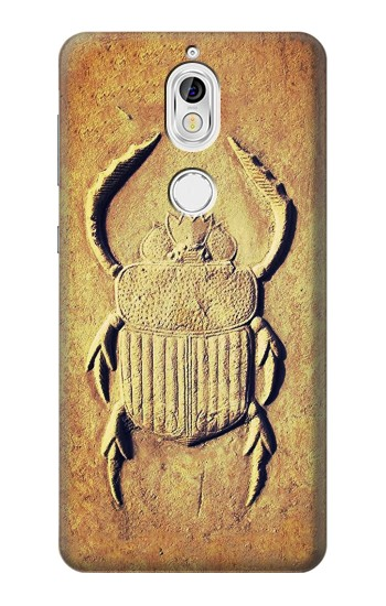 Printed Egyptian Scarab Beetle Graphic Printed Nokia 7 Case