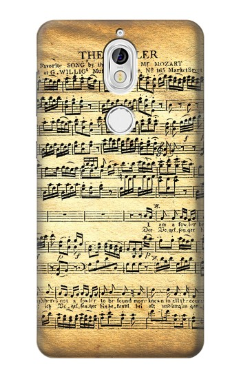 Printed The Fowler Mozart Music Sheet Nokia 7 Case