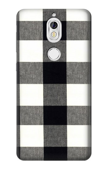 Printed Black and White Buffalo Check Pattern Nokia 7 Case
