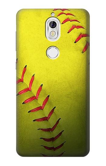Printed Yellow Softball Ball Nokia 7 Case
