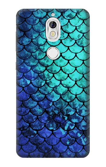 Printed Green Mermaid Fish Scale Nokia 7 Case