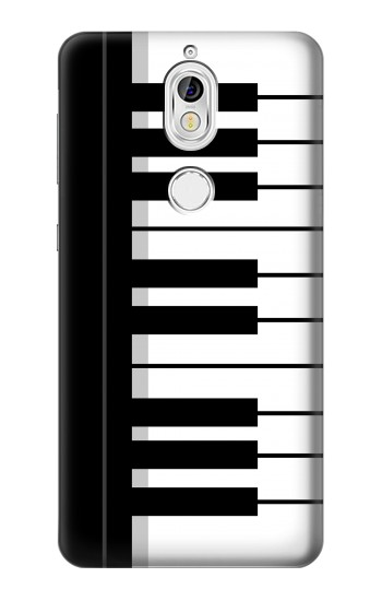 Printed Black and White Piano Keyboard Nokia 7 Case