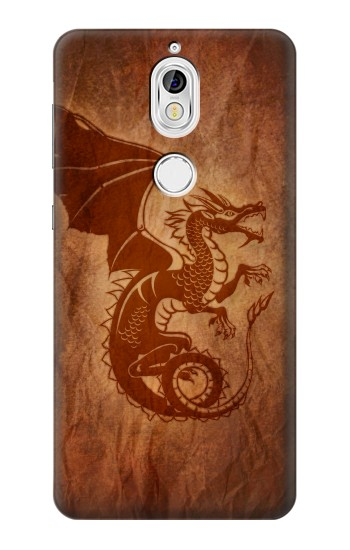 Printed Red Dragon Tattoo Nokia 7 Case