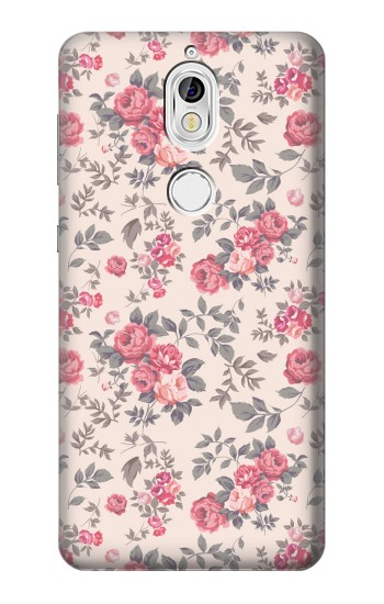 Printed Vintage Rose Pattern Nokia 7 Case