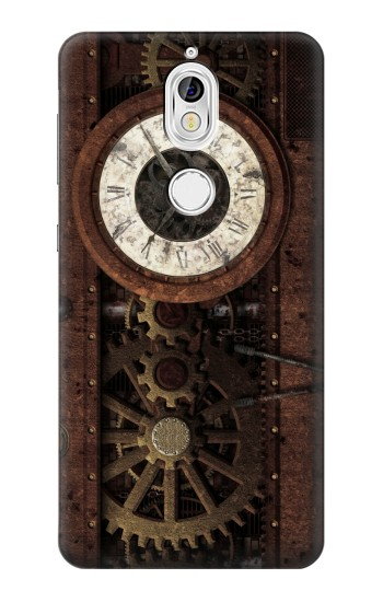 Printed Steampunk Clock Gears Nokia 7 Case