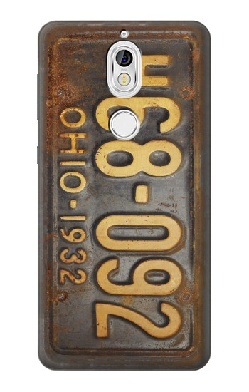 Printed Vintage Car License Plate Nokia 7 Case