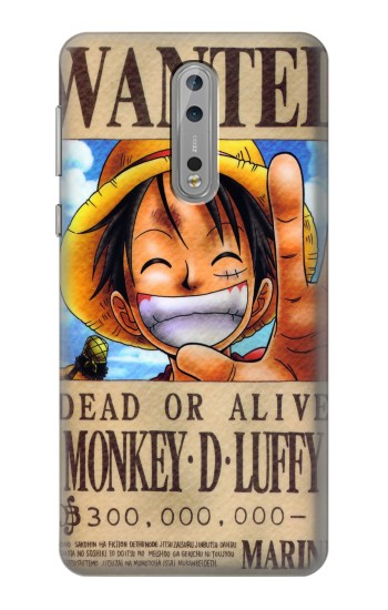 Printed One Piece Monkey D Luffy Wanted Poster Nokia Lumia 1520 Case
