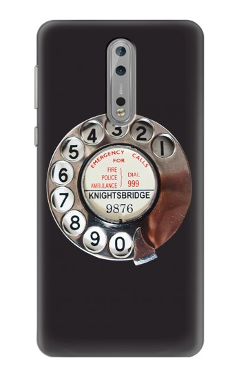 Printed Retro Rotary Phone Dial On Nokia Lumia 1520 Case
