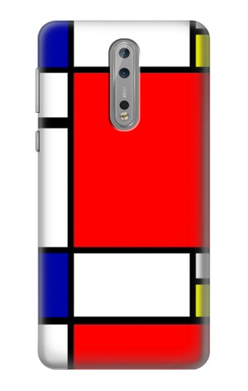 Printed Composition Red Blue Yellow Nokia Lumia 1520 Case