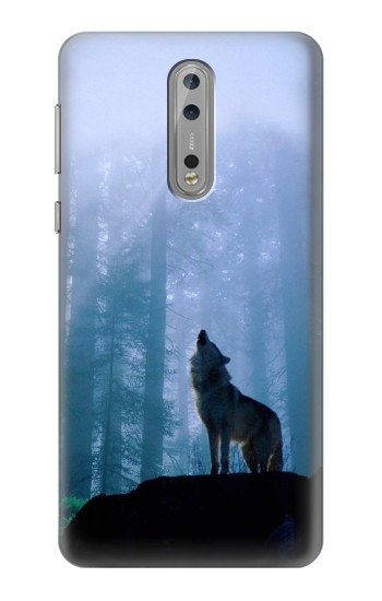 Printed Wolf Howling in Forest Nokia Lumia 1520 Case