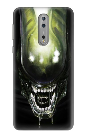 Printed Alien Head Nokia Lumia 1520 Case
