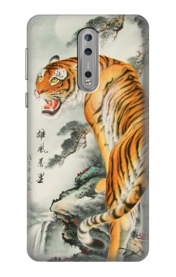 Printed Chinese Tiger Painting Nokia Lumia 1520 Case