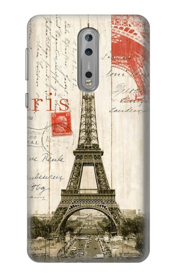 Printed Eiffel Tower Paris Postcard Nokia Lumia 1520 Case