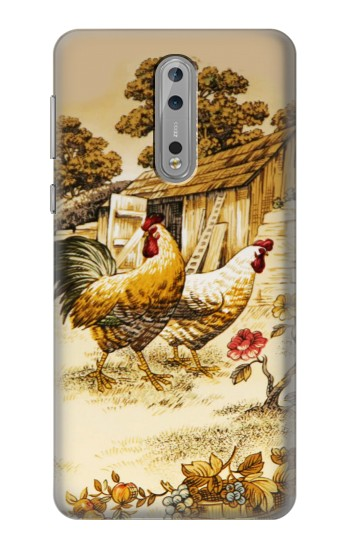 Printed French Country Chicken Nokia Lumia 1520 Case