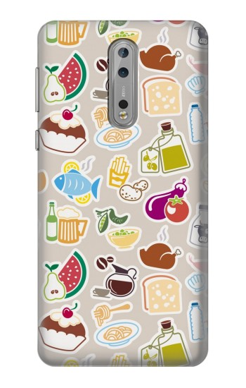 Printed Food and Drink Seamless Nokia Lumia 1520 Case