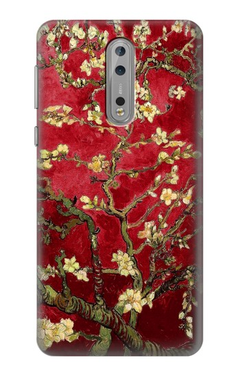 Printed Red Blossoming Almond Tree Van Gogh Nokia Lumia 1520 Case
