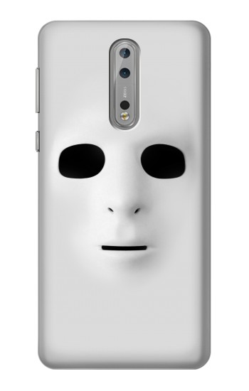 Printed White Face Mask Nokia Lumia 1520 Case