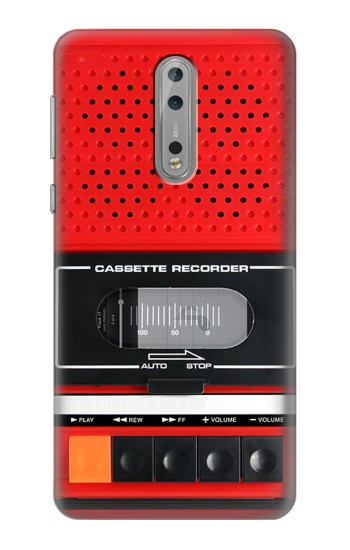 Printed Red Cassette Recorder Graphic Nokia Lumia 1520 Case