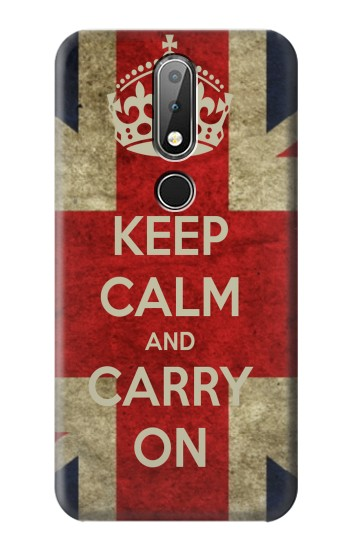Printed Keep Calm and Carry On Nokia X6 Case