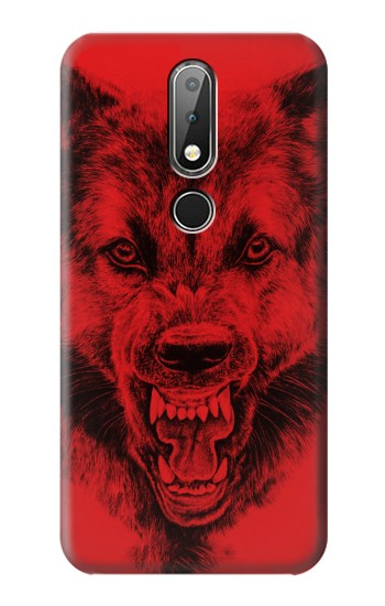 Printed Red Wolf Nokia X6 Case